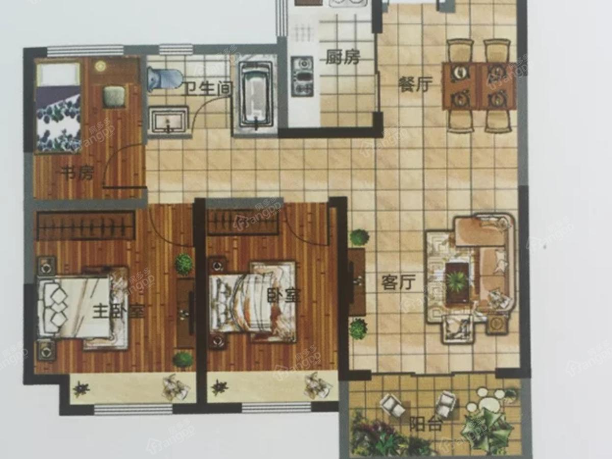 杉杉·国际城2室2厅1卫户型图