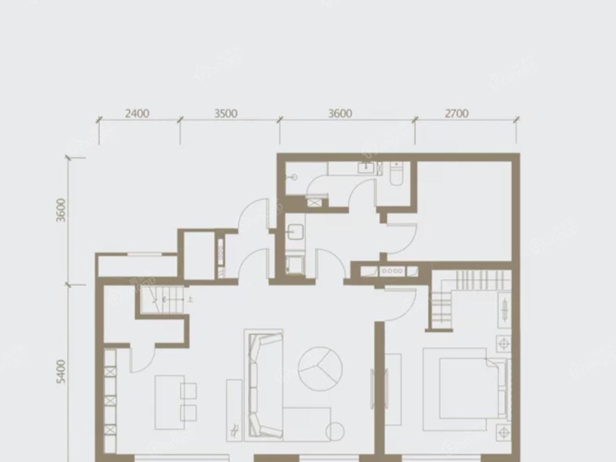 湖光·壹号4室2厅2卫户型图
