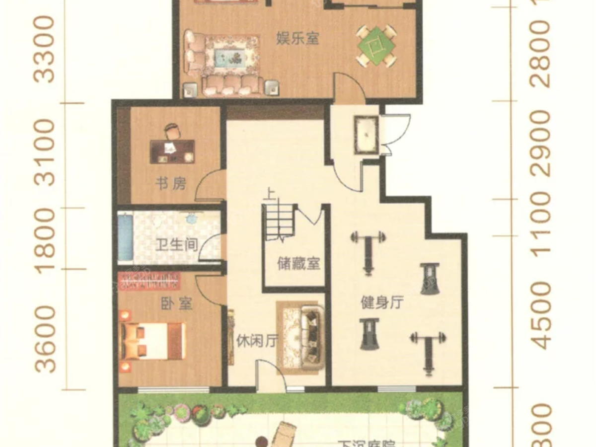 御湖尊邸7室4厅2卫户型图
