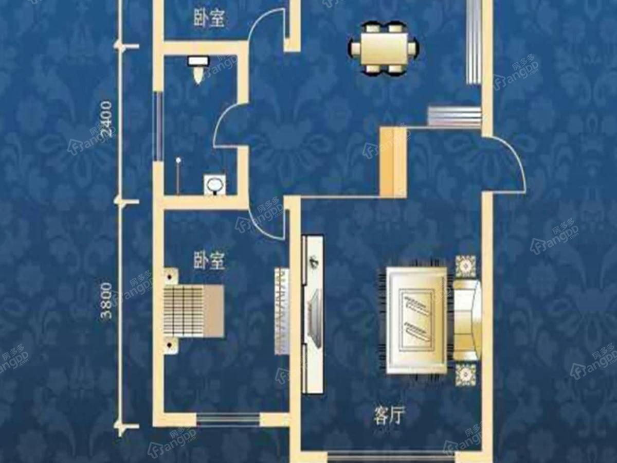 肇源县西海新区2室1厅1卫户型图