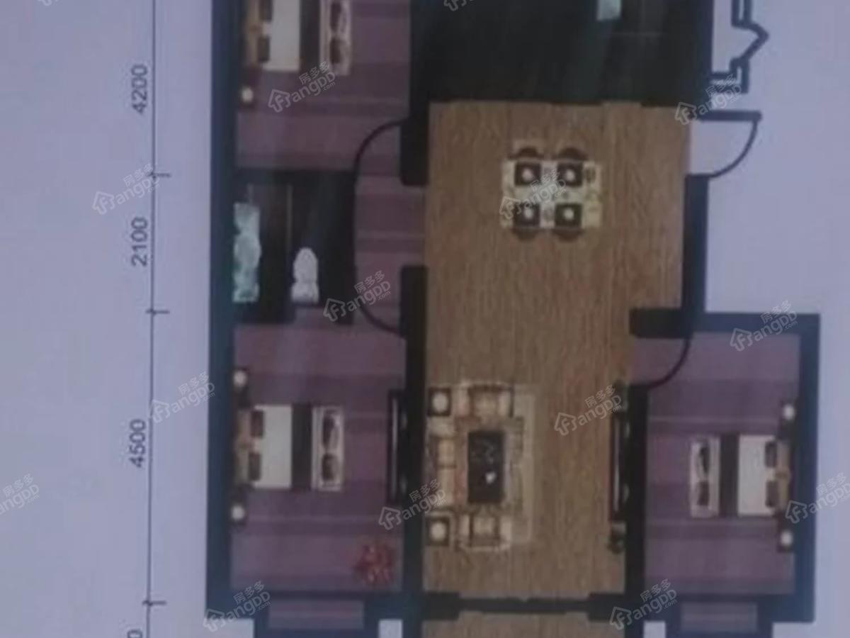 宇臻名都3室2厅2卫户型图