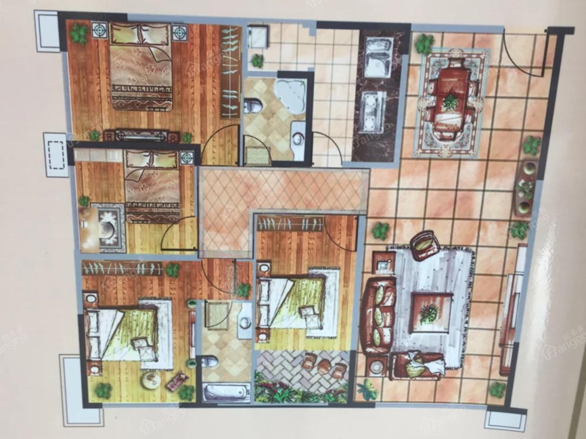 汉城国际4室2厅2卫户型图