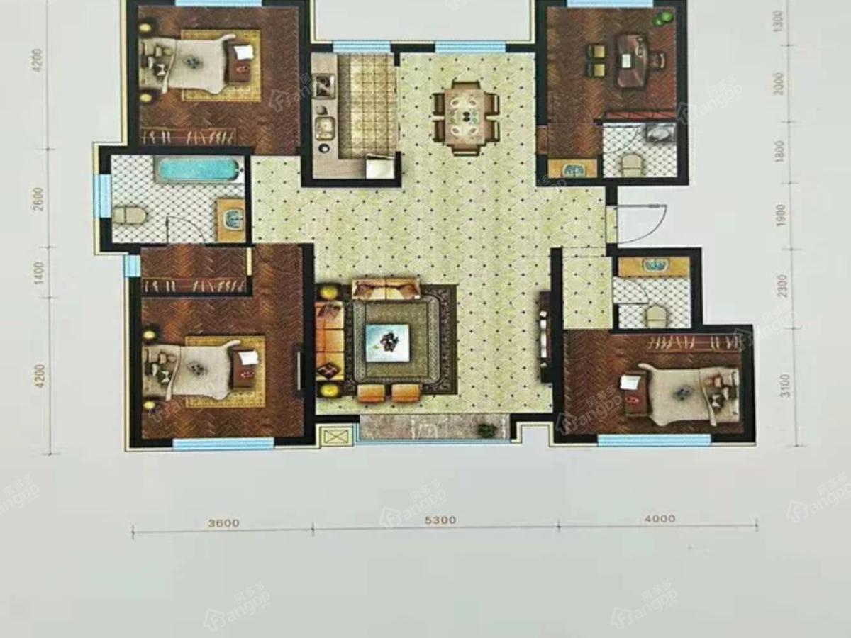 华溪龙城三期4室2厅3卫户型图