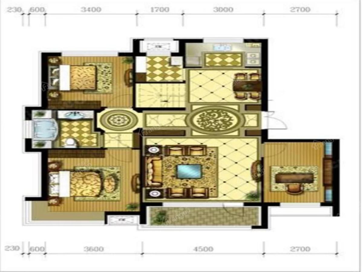 星河国府3室2厅1卫户型图