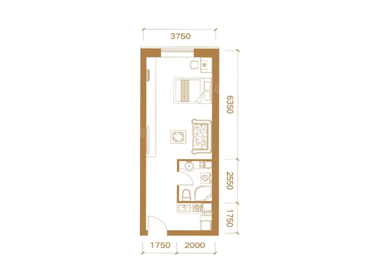 振华广场公寓户型图