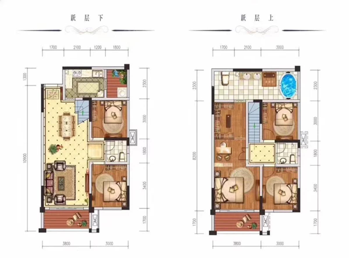 远达·第一城·央墅5室2厅3卫户型图