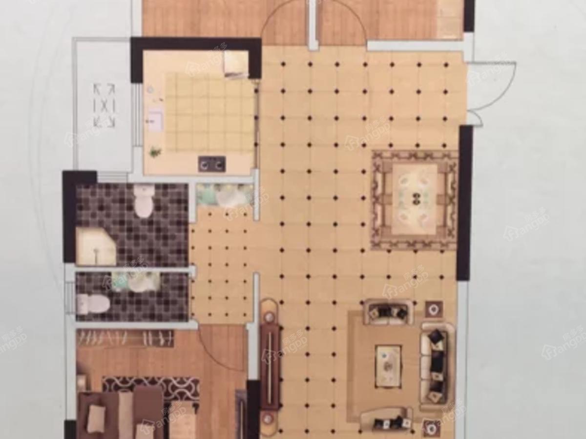 亿祥亲亲里3室2厅2卫户型图