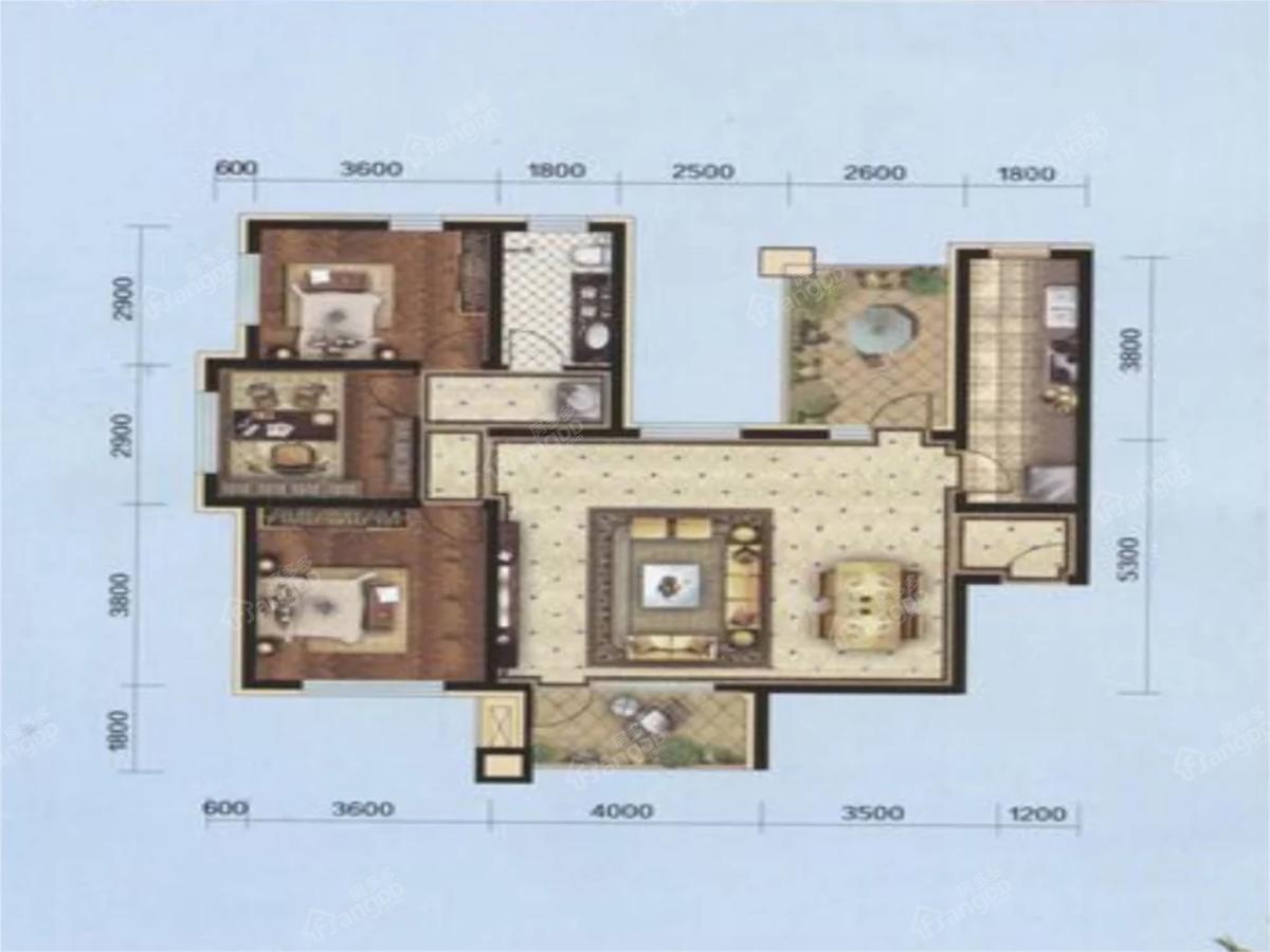 花蔓溪谷2室2厅1卫户型图