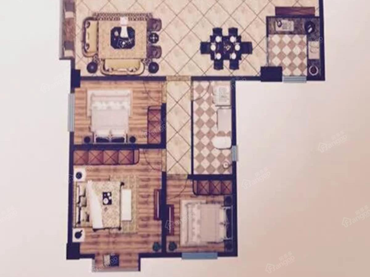 鼎盛·天祥商厦3室2厅1卫户型图