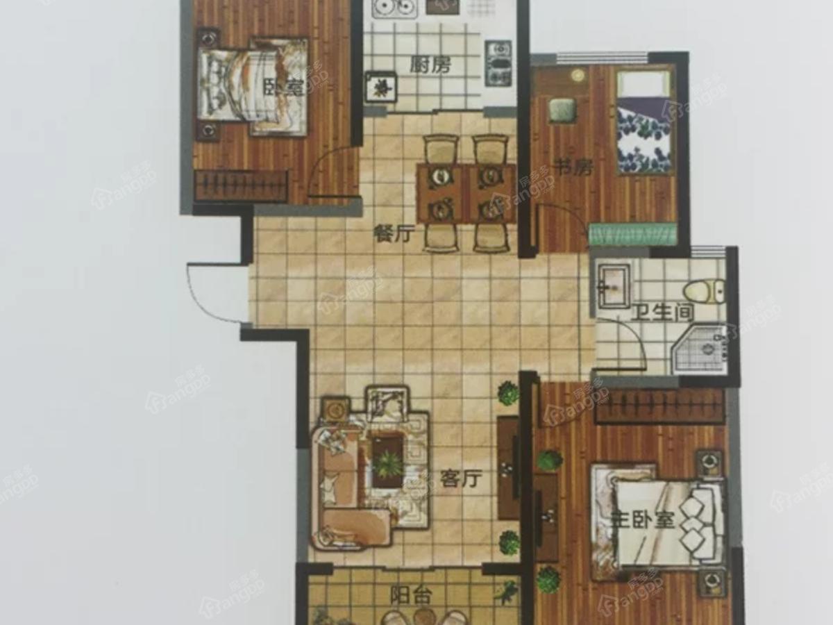 杉杉·国际城3室2厅1卫户型图