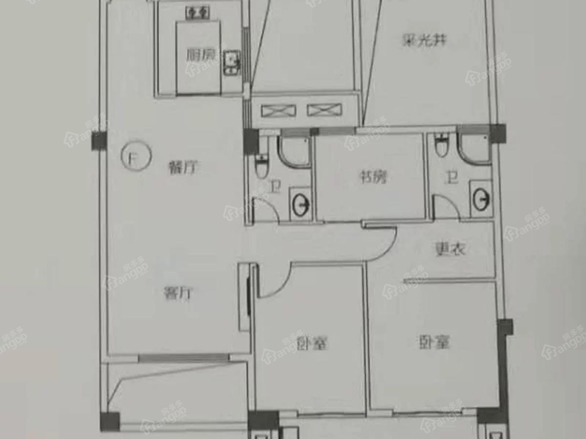 屏南花亭小区4室2厅2卫户型图
