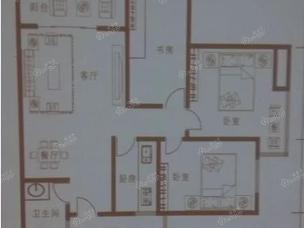 江能佳园3室2厅1卫户型图