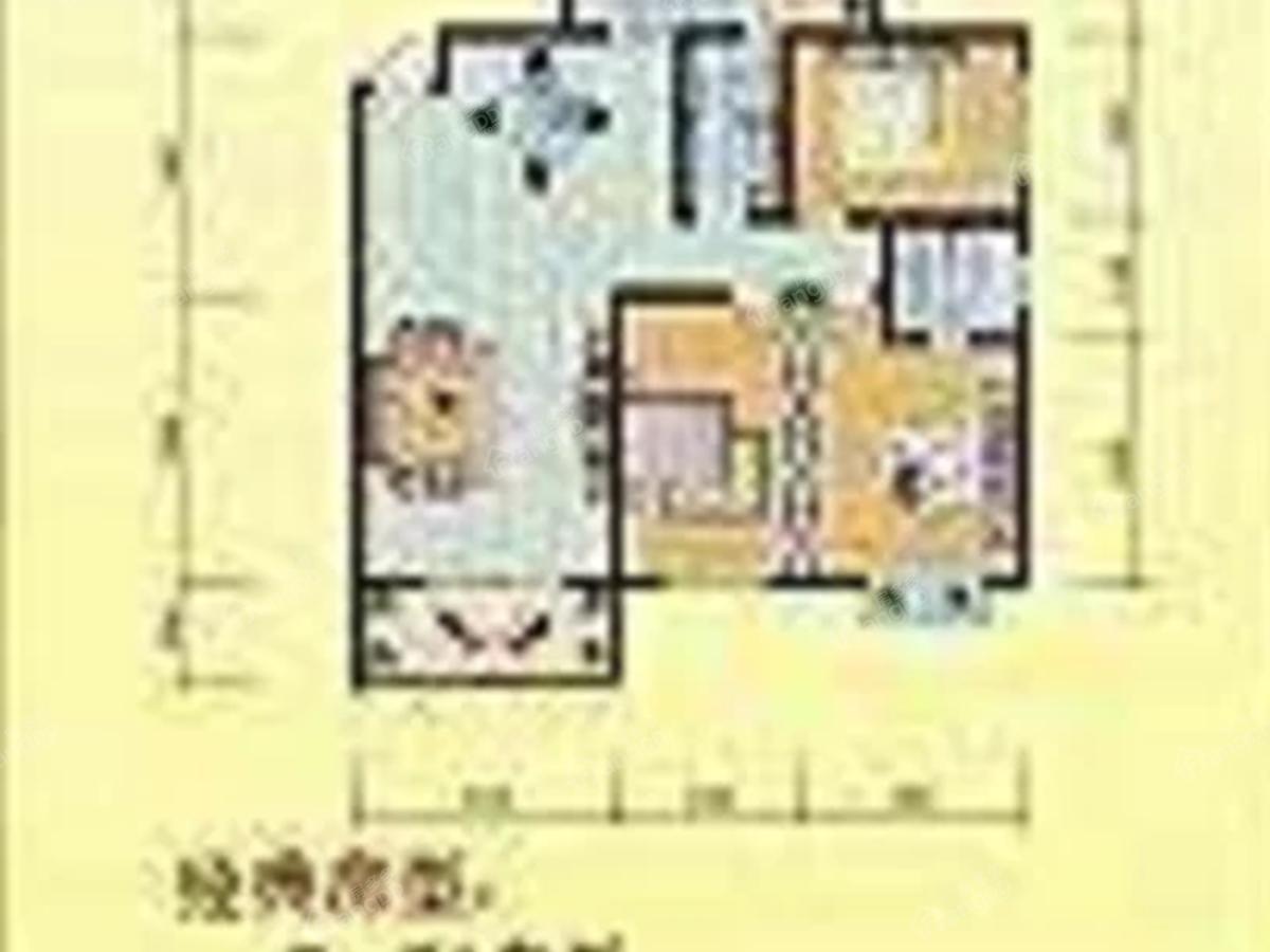 弘星大厦3室2厅2卫户型图