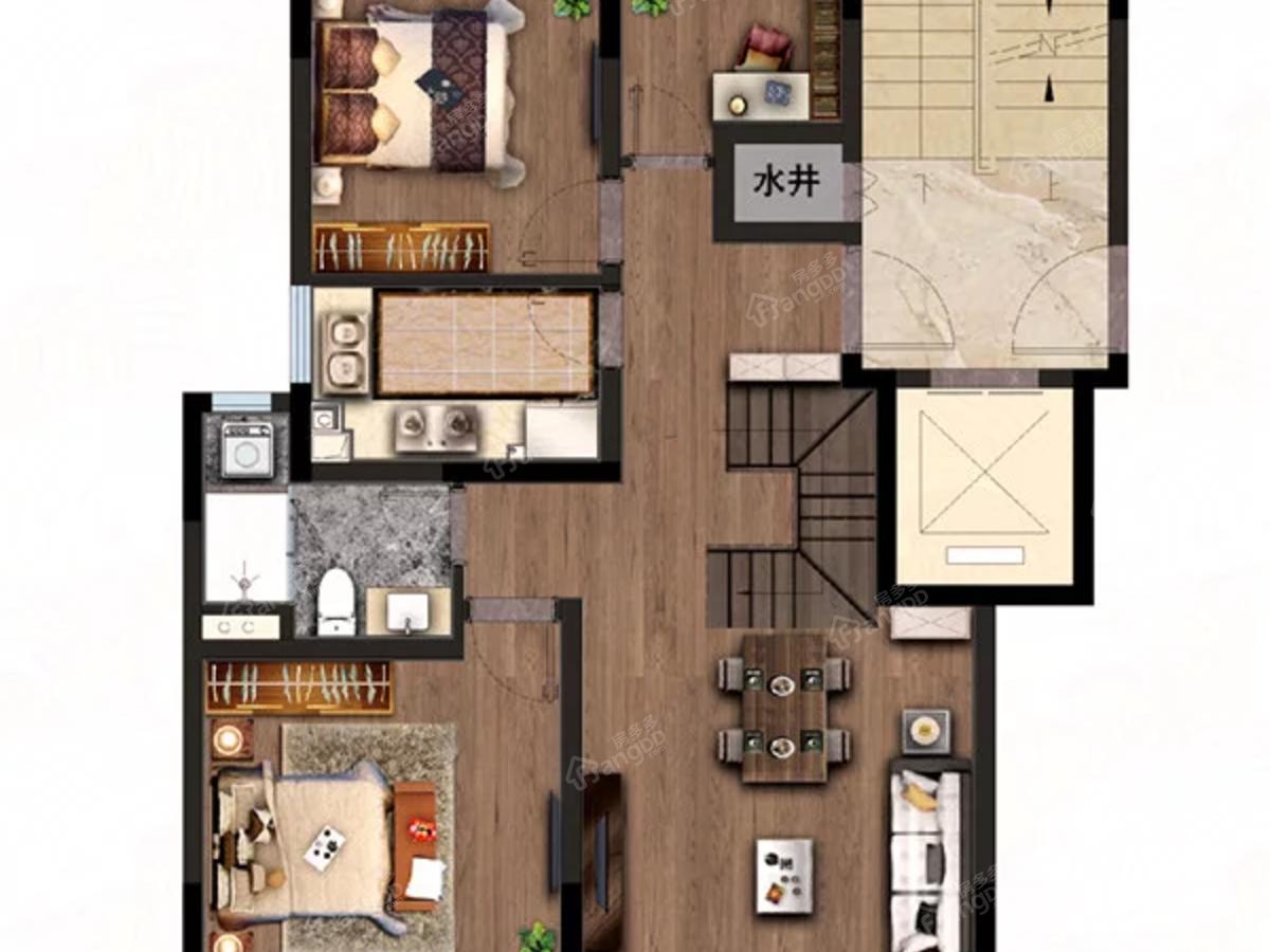 九溪源著4室3厅2卫户型图
