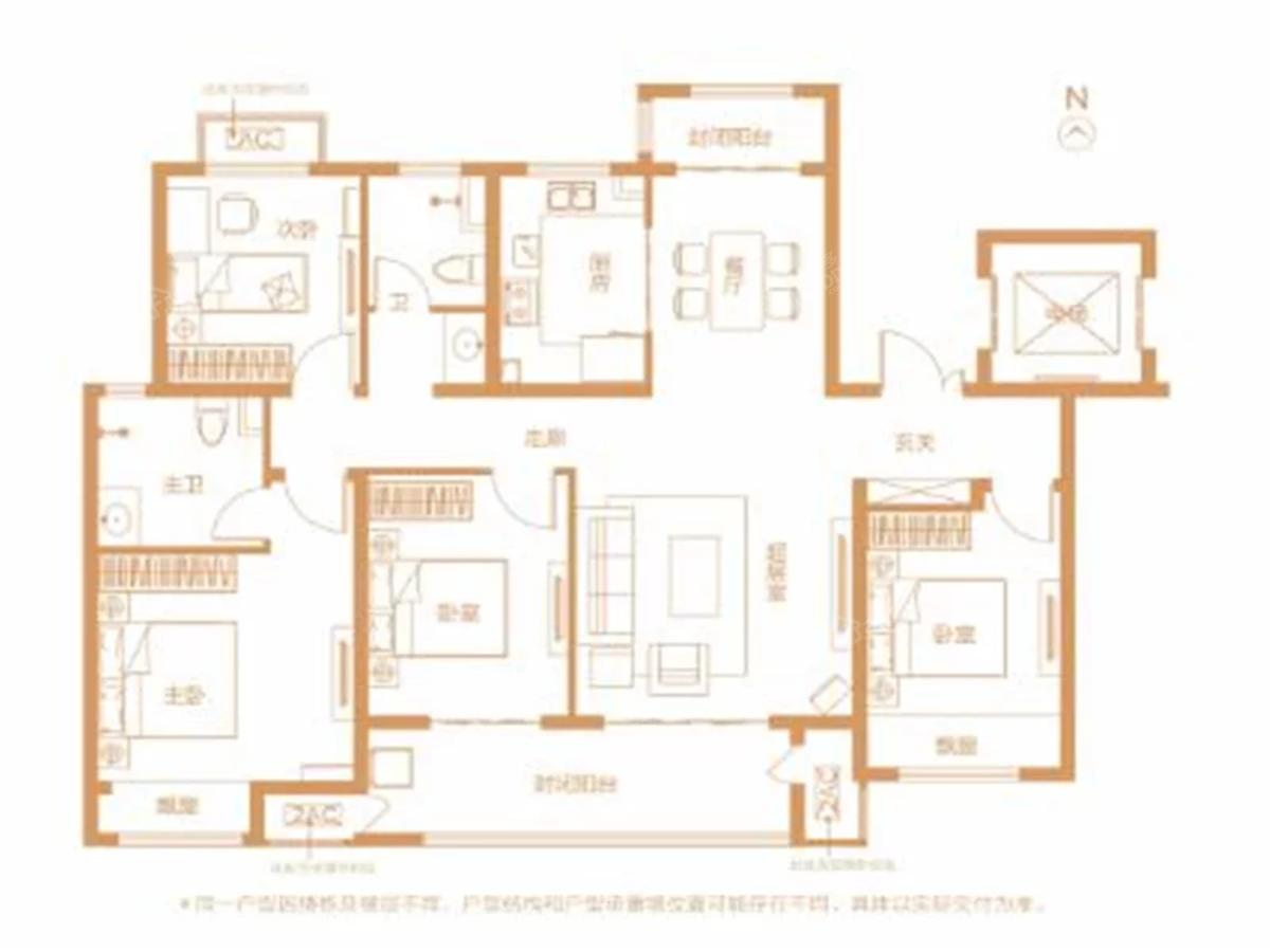 鹤壁建业世和府4室2厅2卫户型图