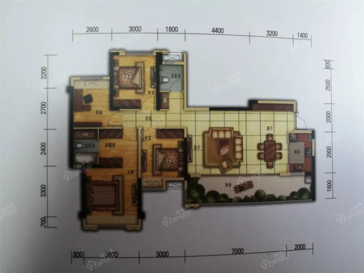 置信府4室2厅2卫户型图
