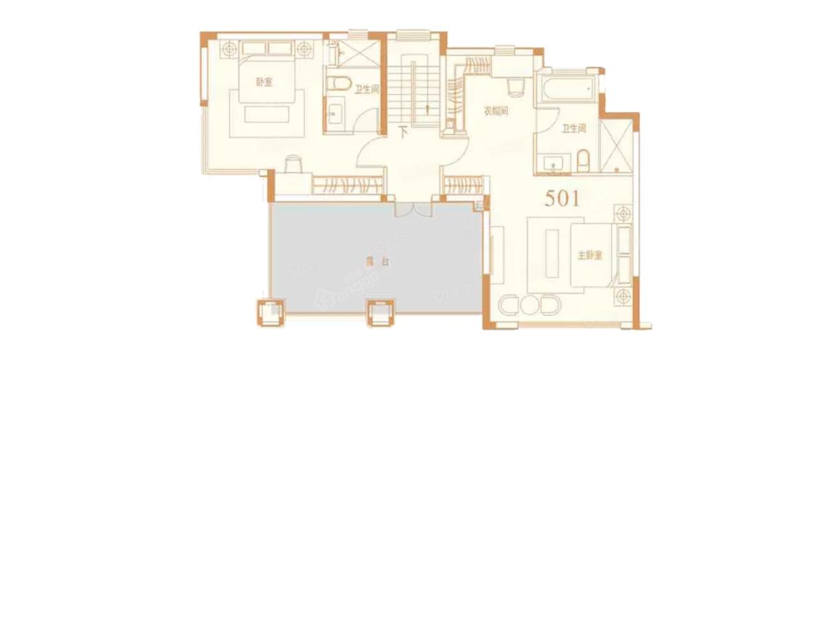 恒大未来城4室2厅3卫户型图