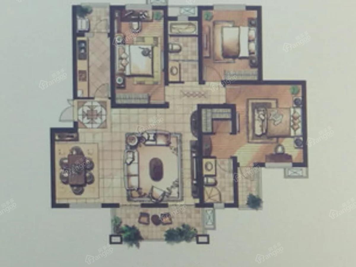 玉湖新城二期·上海人家3室2厅2卫户型图