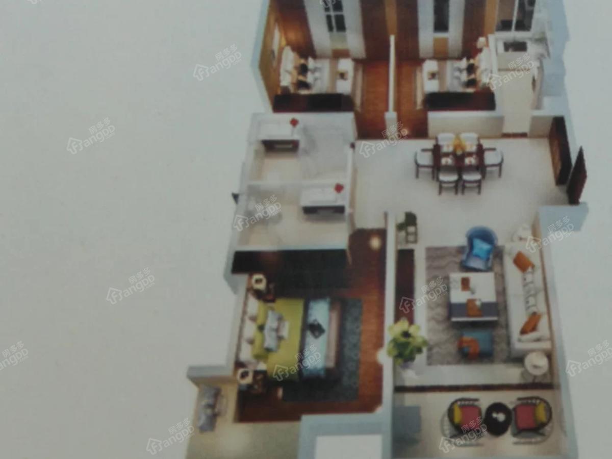 都市国际3室2厅2卫户型图