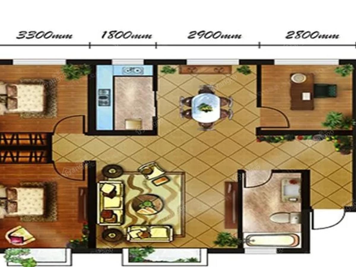 香悦湾3室2厅1卫户型图