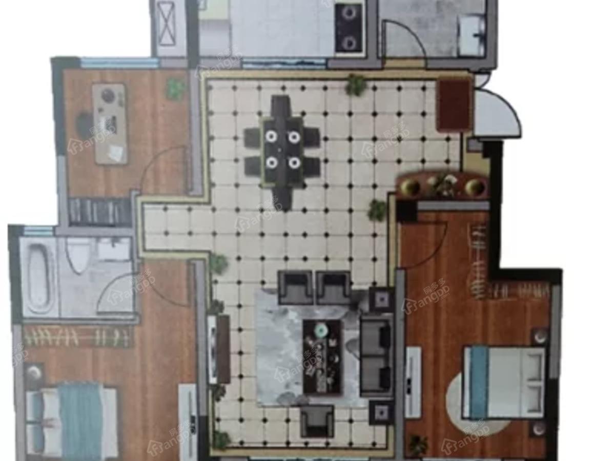 红星·星都荟3室2厅2卫户型图