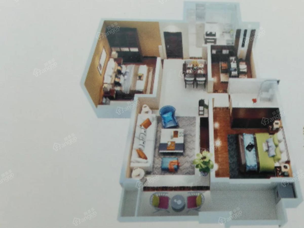 都市国际3室2厅1卫户型图