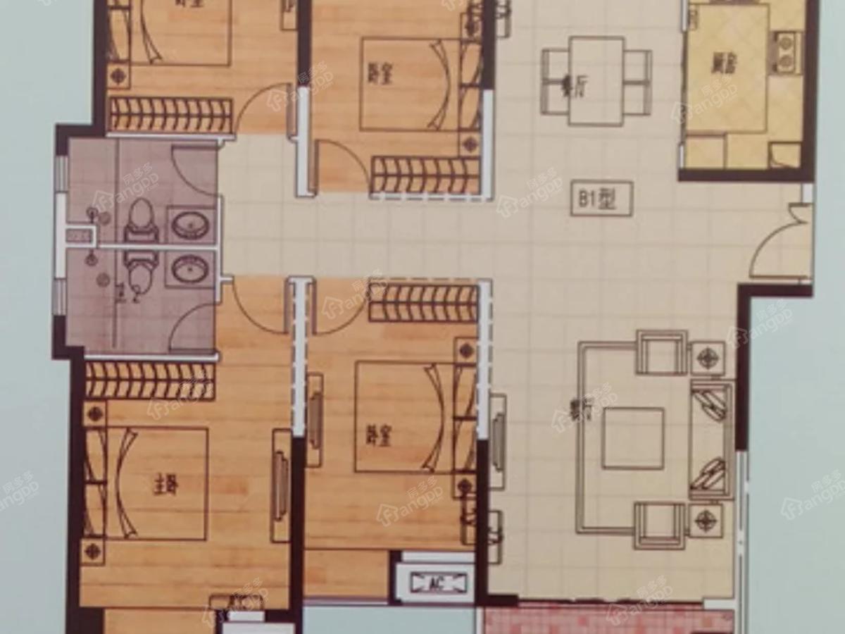 凤凰天成4室2厅2卫户型图