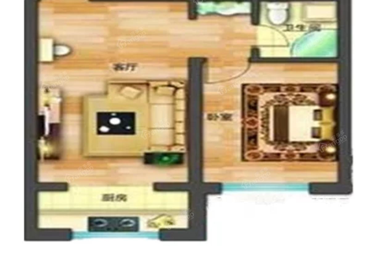 幸福里小区1室1厅1卫户型图