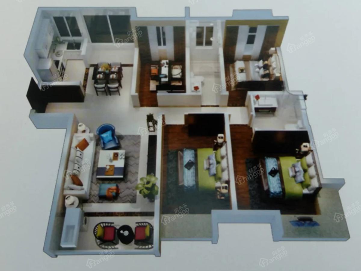 都市国际4室2厅2卫户型图
