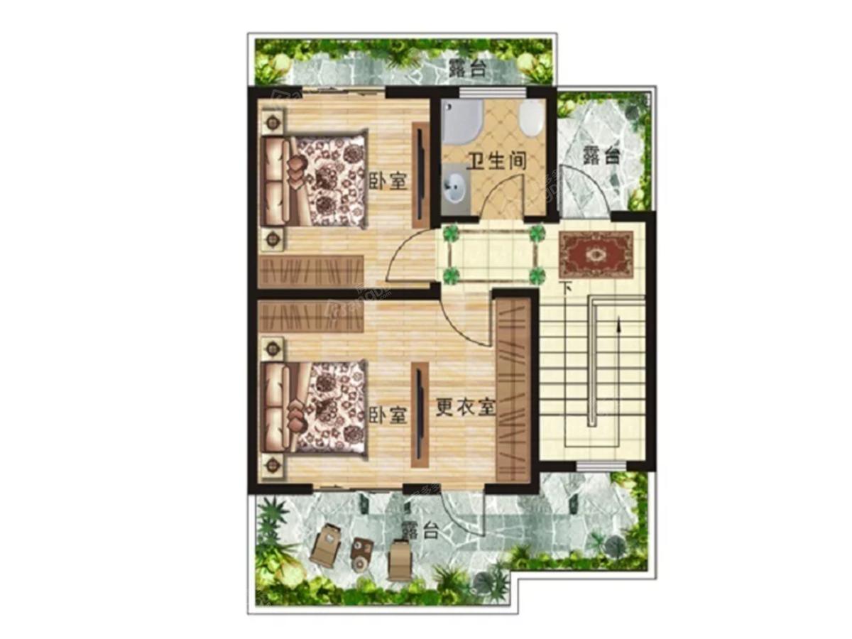 汤街小镇5室2厅4卫户型图