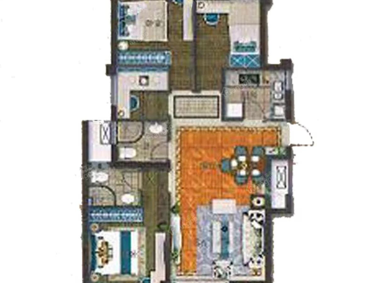 宁德福晟碧桂园天骄4室2厅2卫户型图