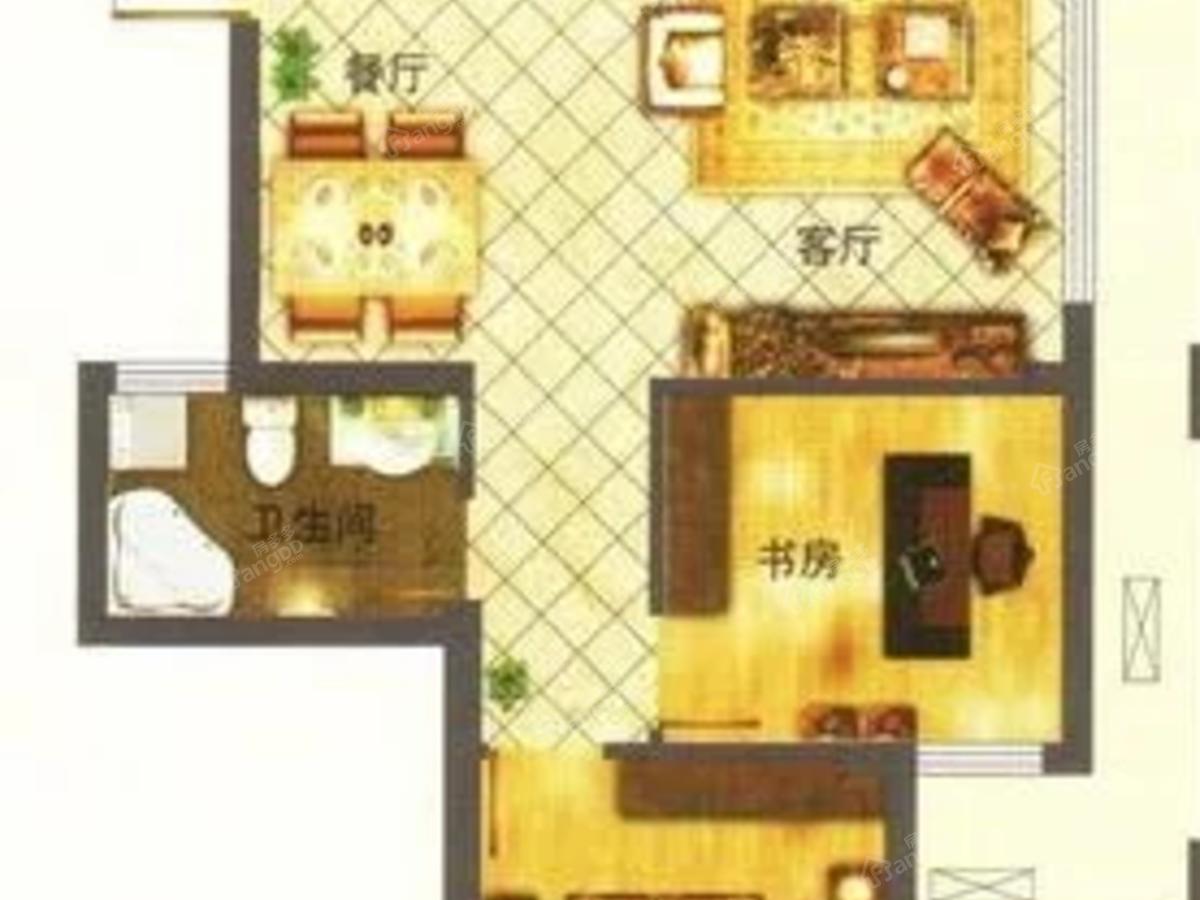 云南旅游产业城2室2厅1卫户型图
