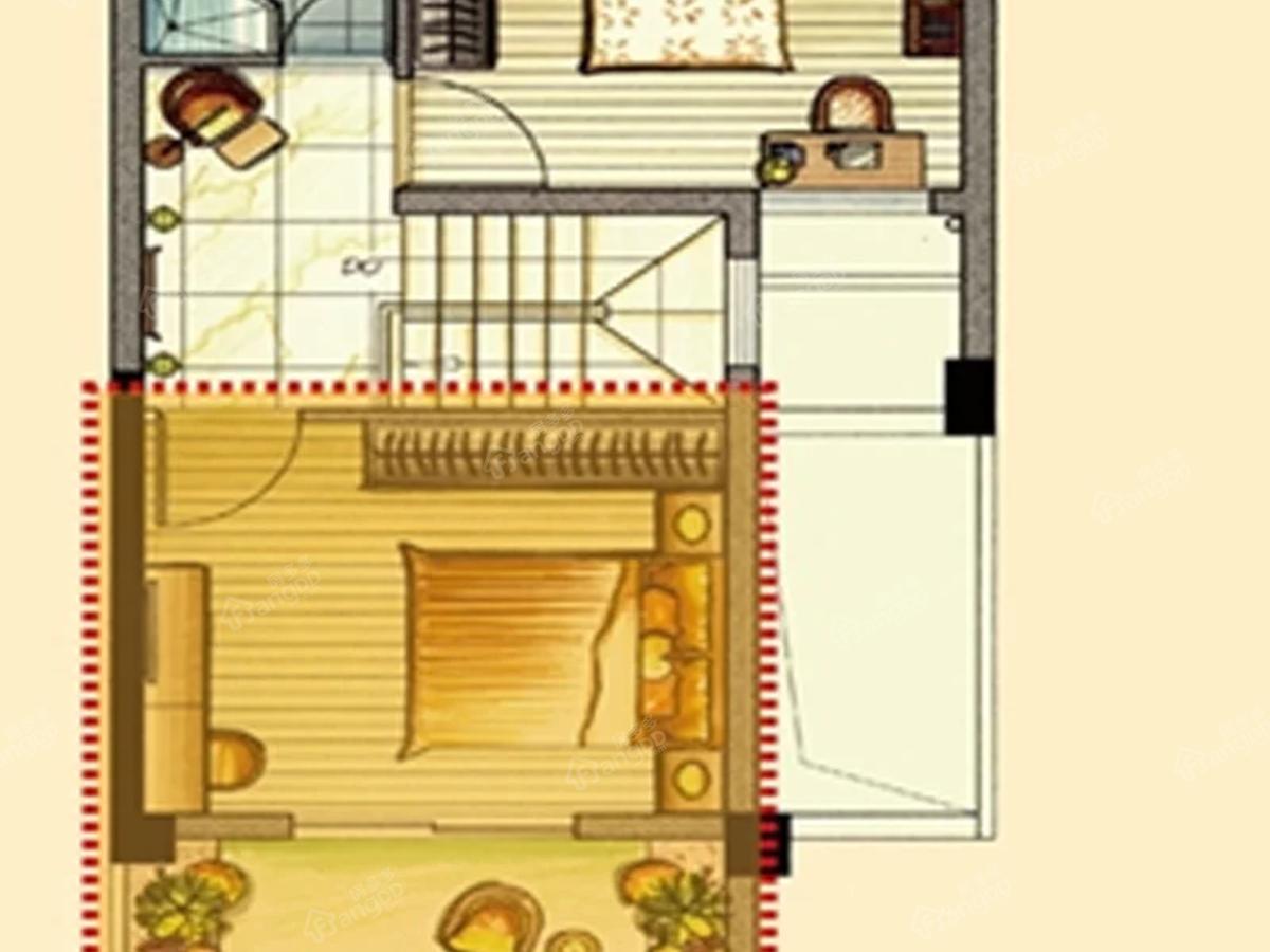 翡翠城2室2厅2卫户型图