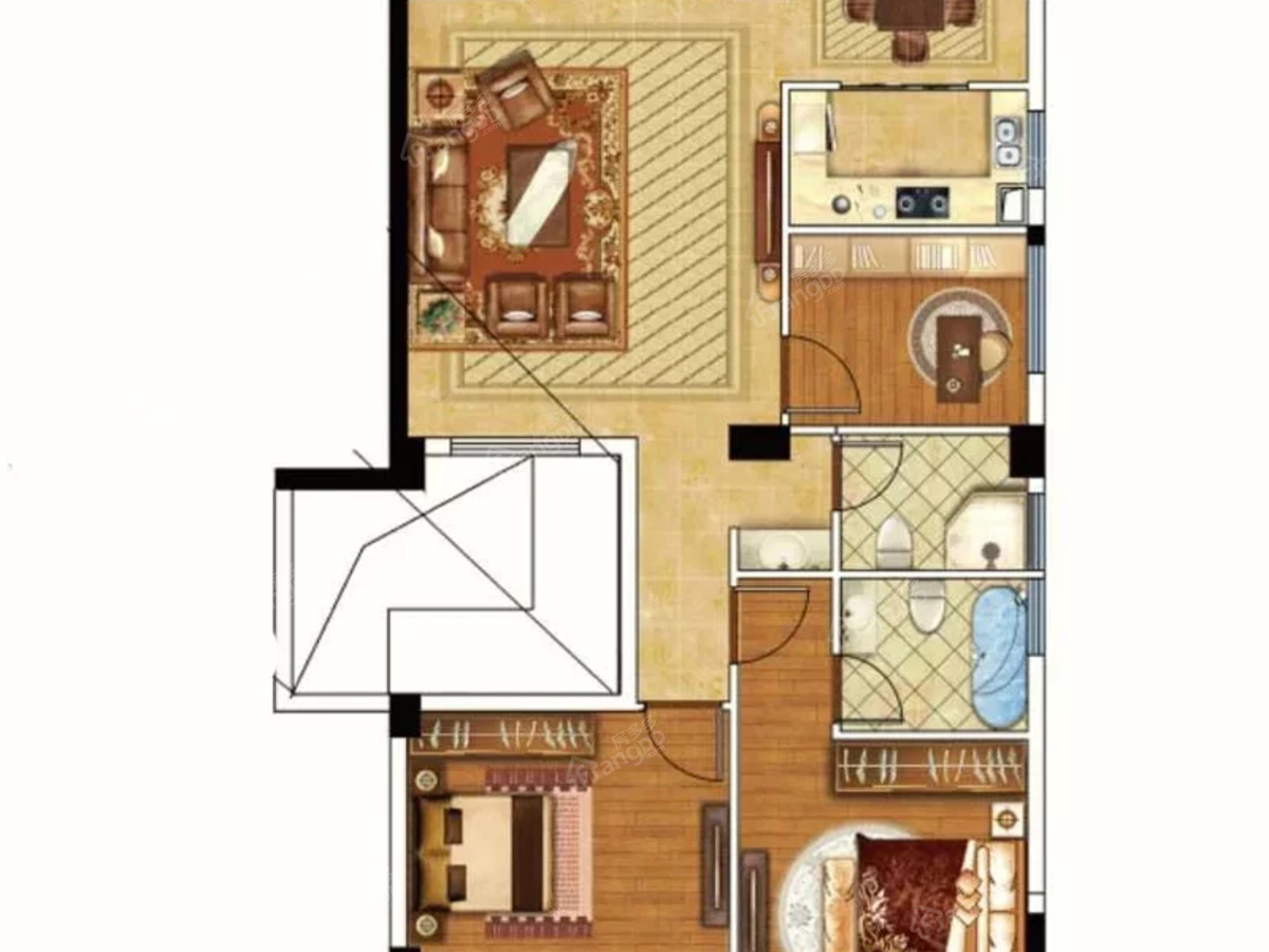 屏南瑞生璟园4室2厅2卫户型图
