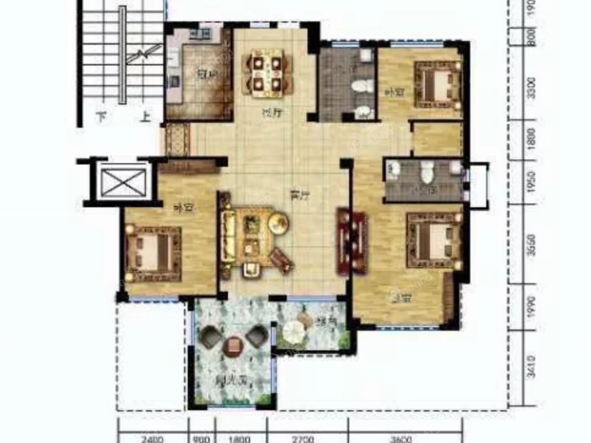 温莎溪谷4室3厅2卫户型图
