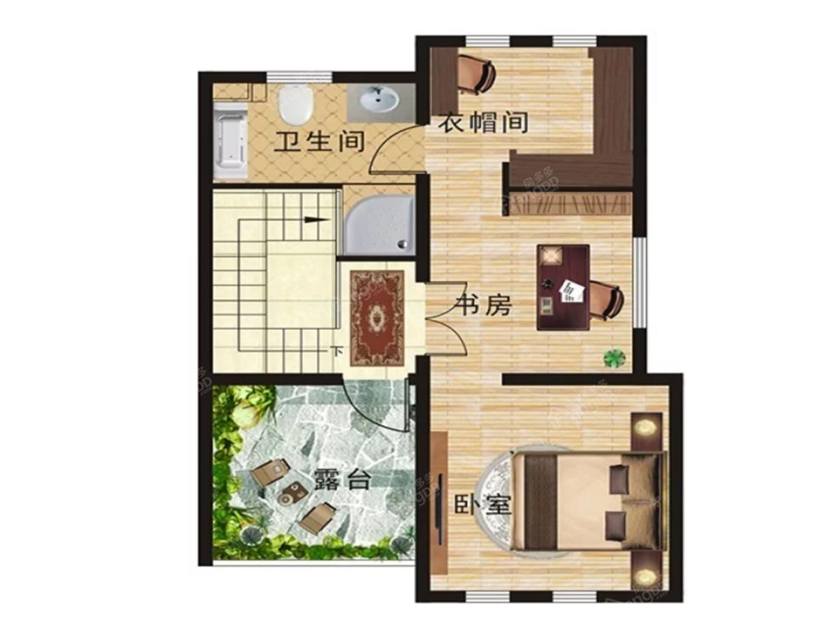 汤街小镇6室2厅4卫户型图