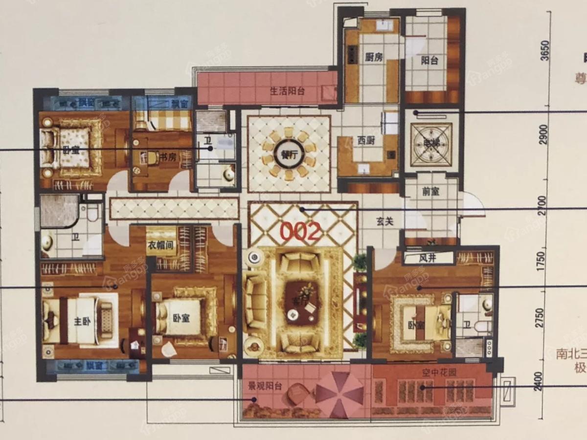 邵阳碧桂园5室2厅3卫户型图