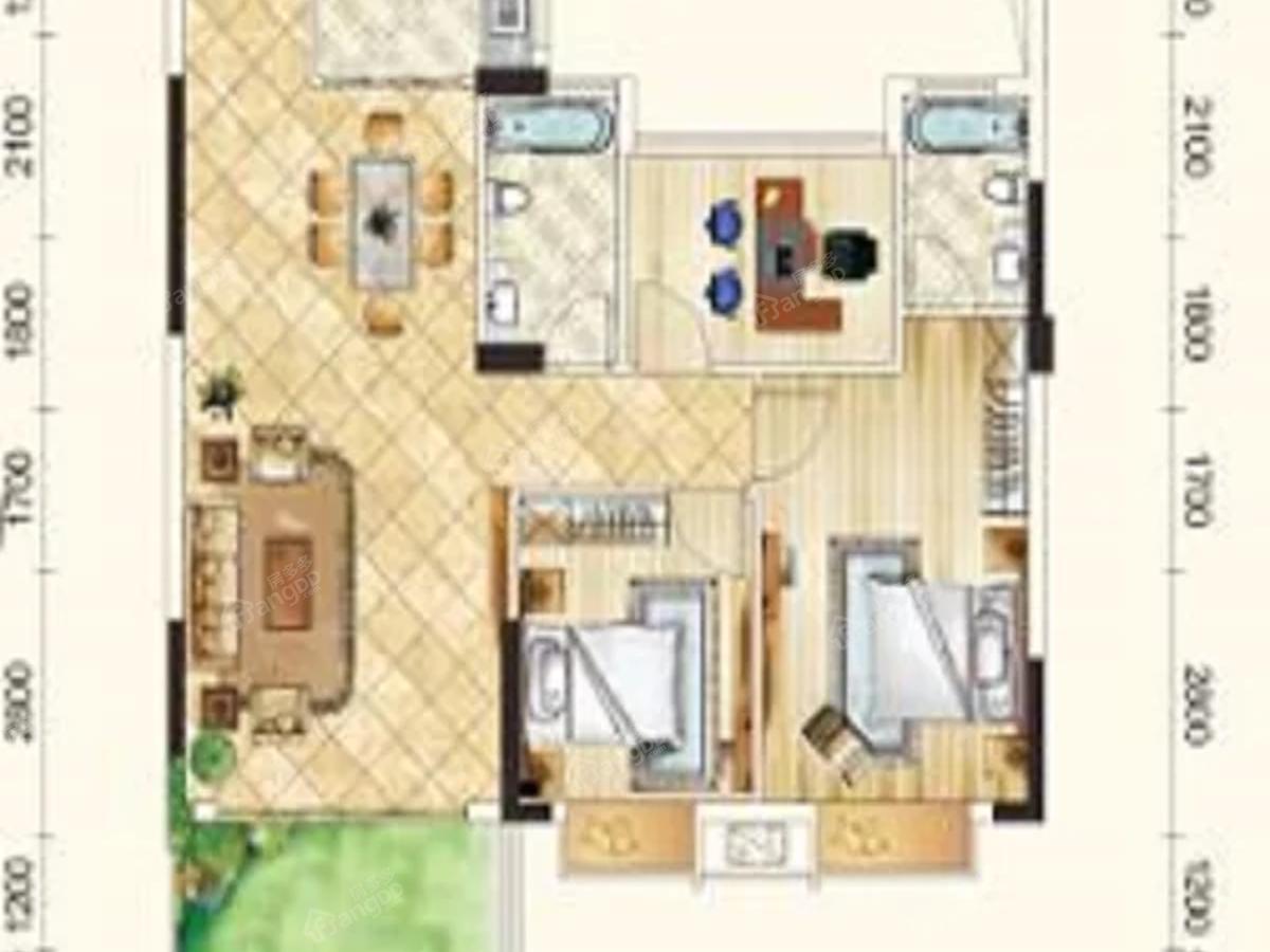 君悦府3室2厅2卫户型图