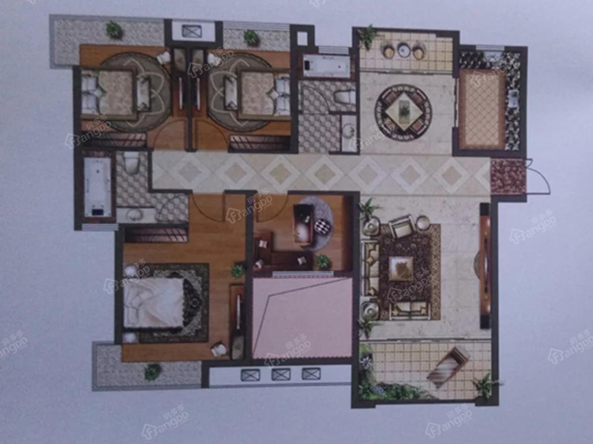 怡和源天悦城4室2厅2卫户型图