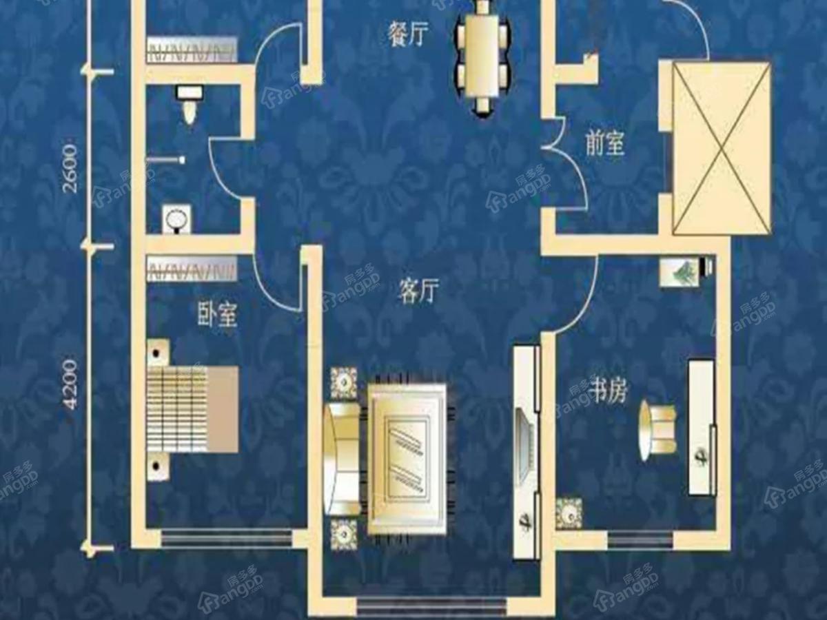 肇源县西海新区3室2厅1卫户型图