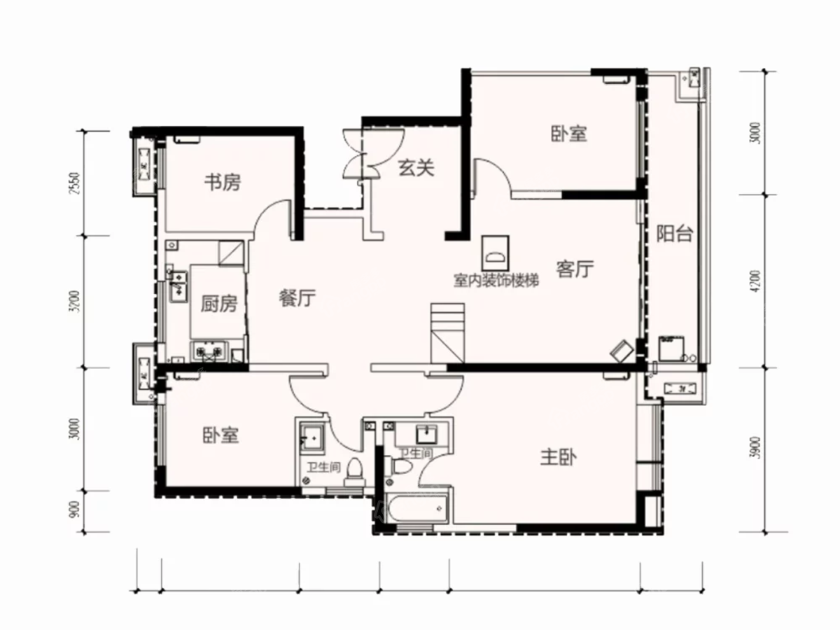 林凯城6室2厅3卫户型图
