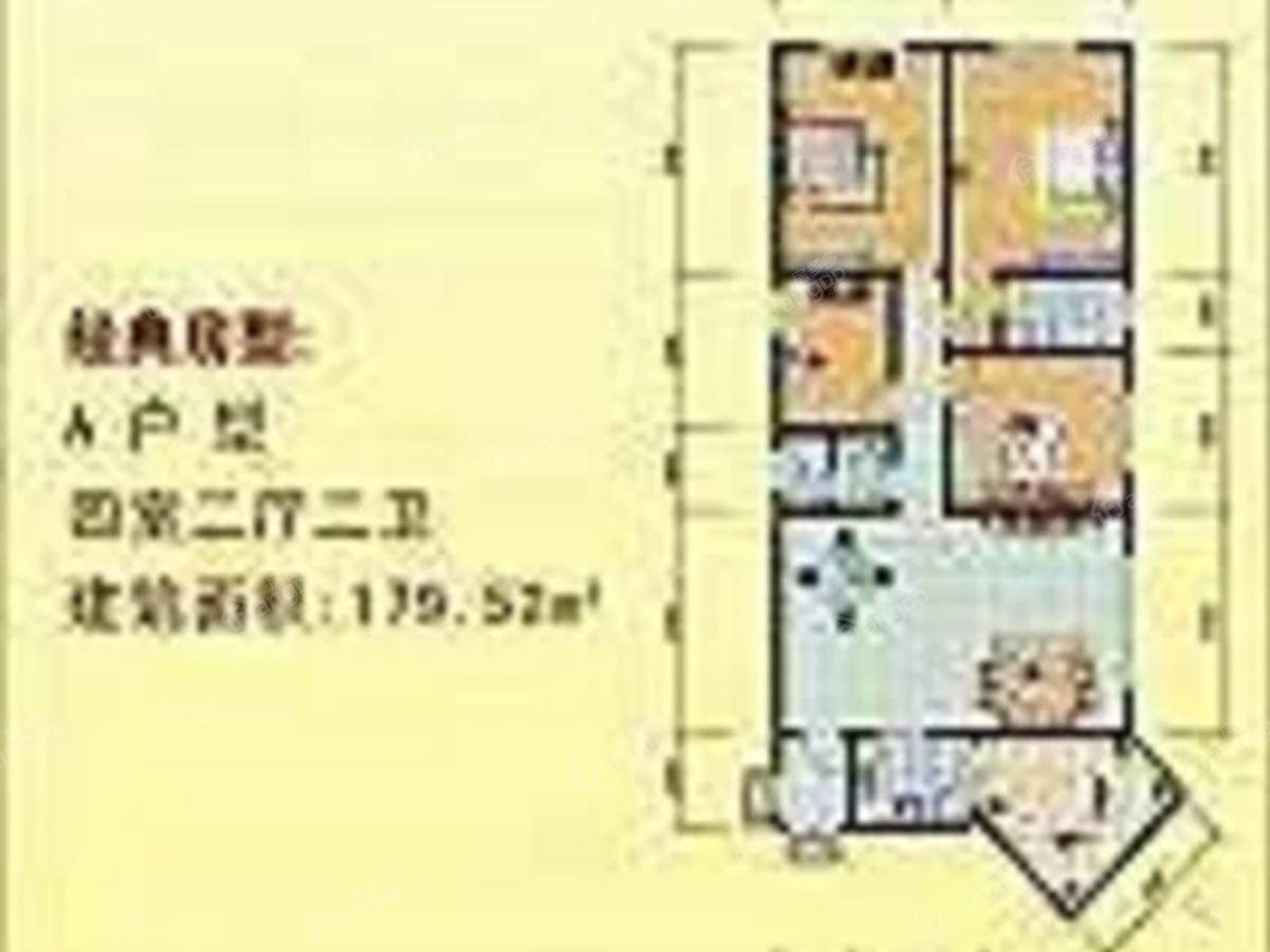 弘星大厦4室2厅2卫户型图