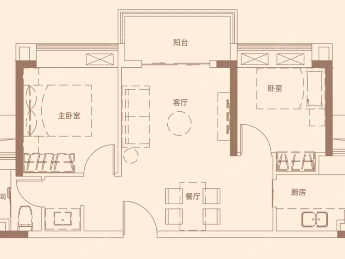 灵山岛·金茂湾 2室2厅1卫