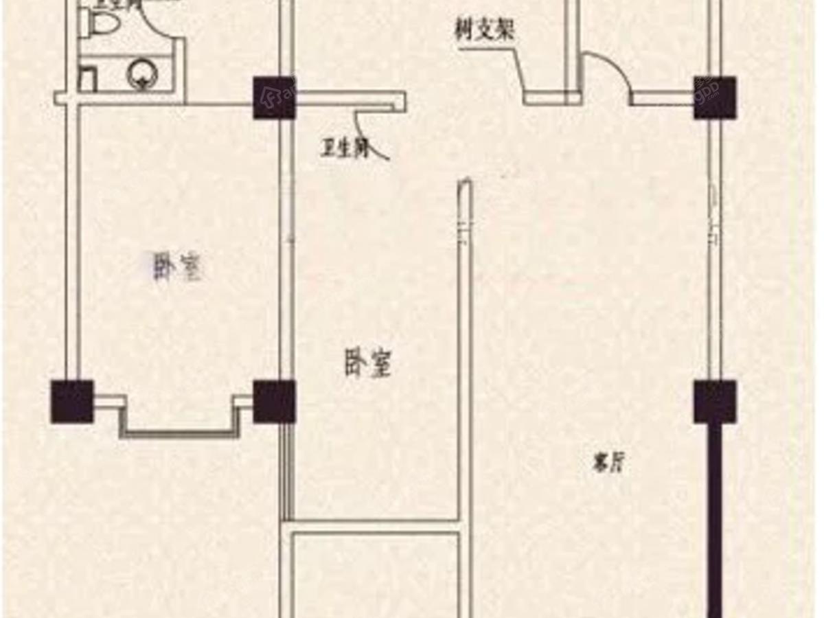 三鑫第一城4室2厅2卫户型图