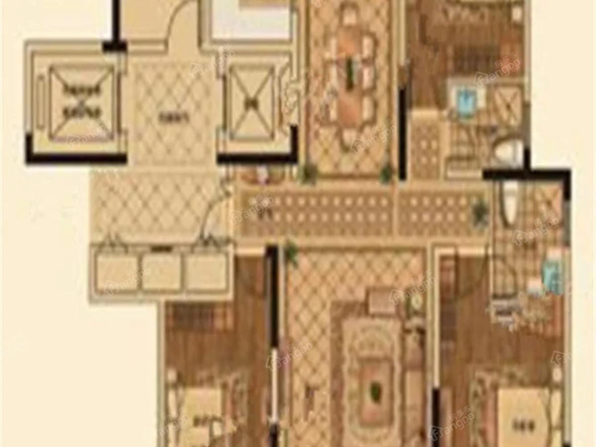 山能德圣·巨山花园3室2厅2卫户型图