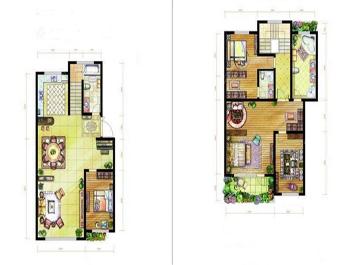 香榭岚庭4室2厅2卫户型图
