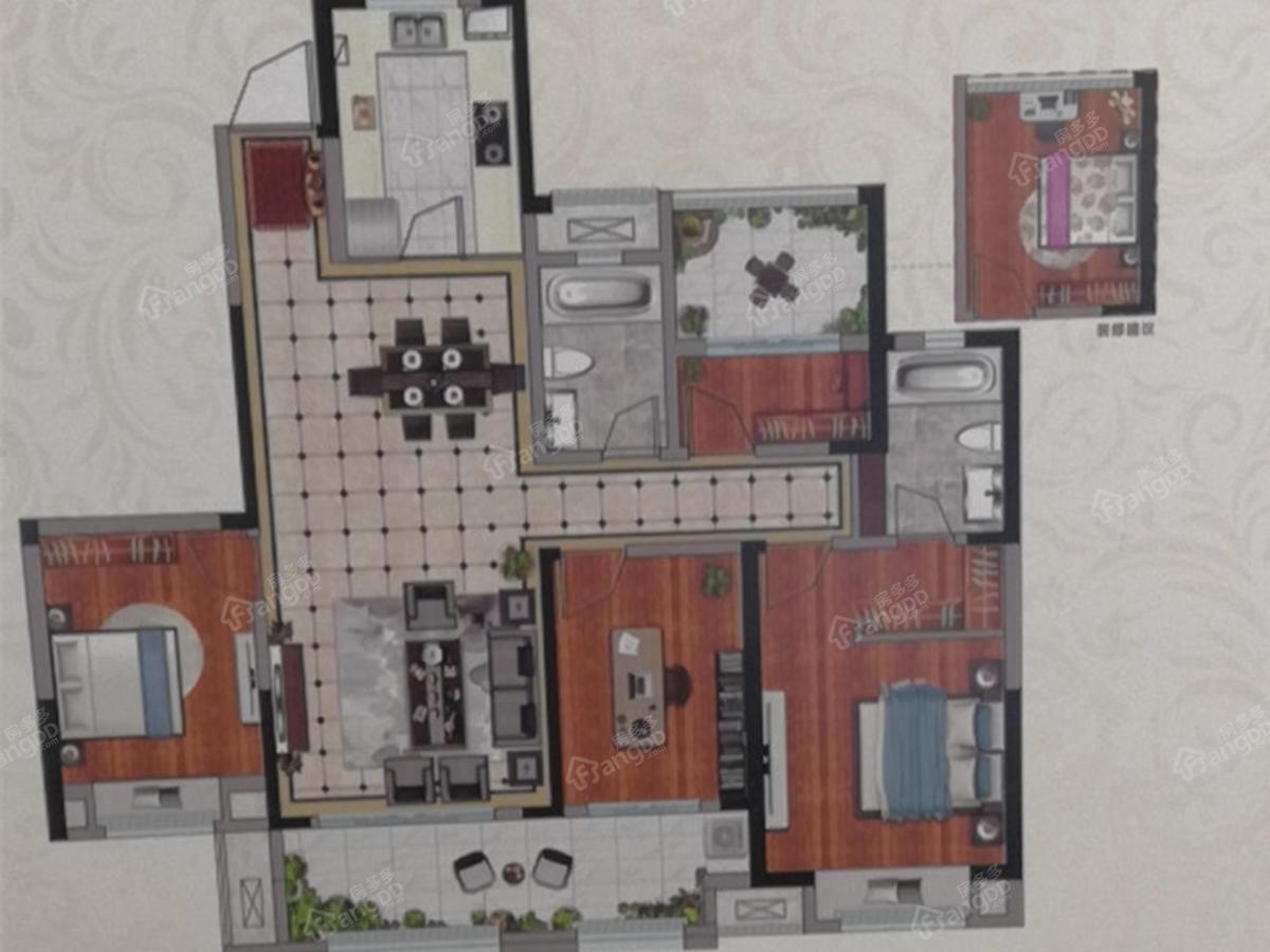 红星·星都荟4室2厅2卫户型图