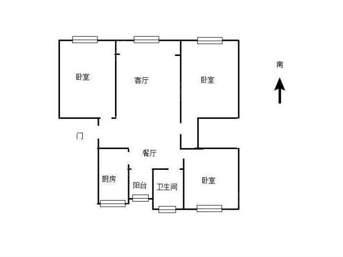天馨花园新出正气大三房满五唯一 户型图