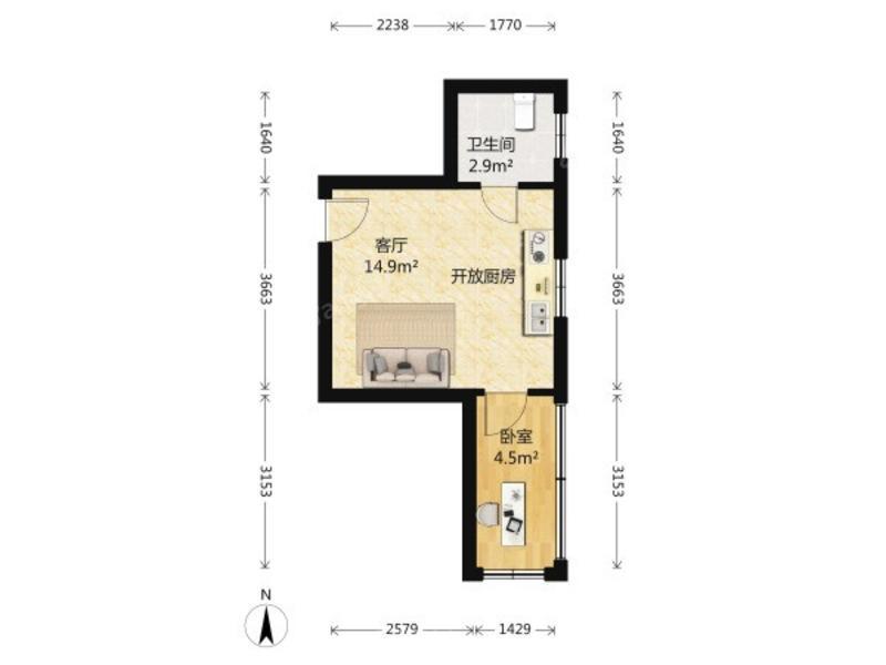 蓝宝石公寓户型图