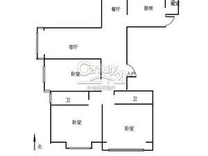 复城国际(公寓) 3居 南北通透 电梯房 靠近地铁